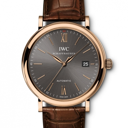 Portofino Automatic 40mm Rose Gold Leather ...