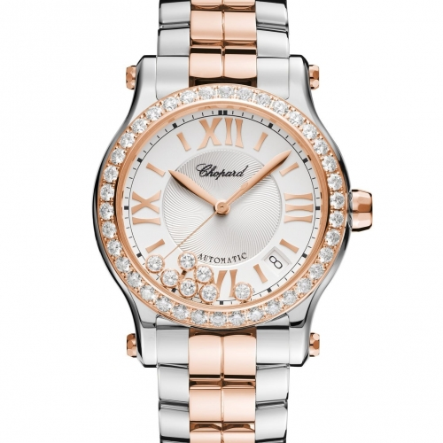 Happy Sport 36MM Two-Tone Diamond Case ...