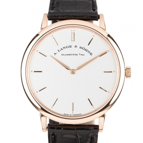 Saxonia Thin Pink Gold White Dial