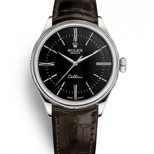 Cellini Time Black Dial Brown Strap